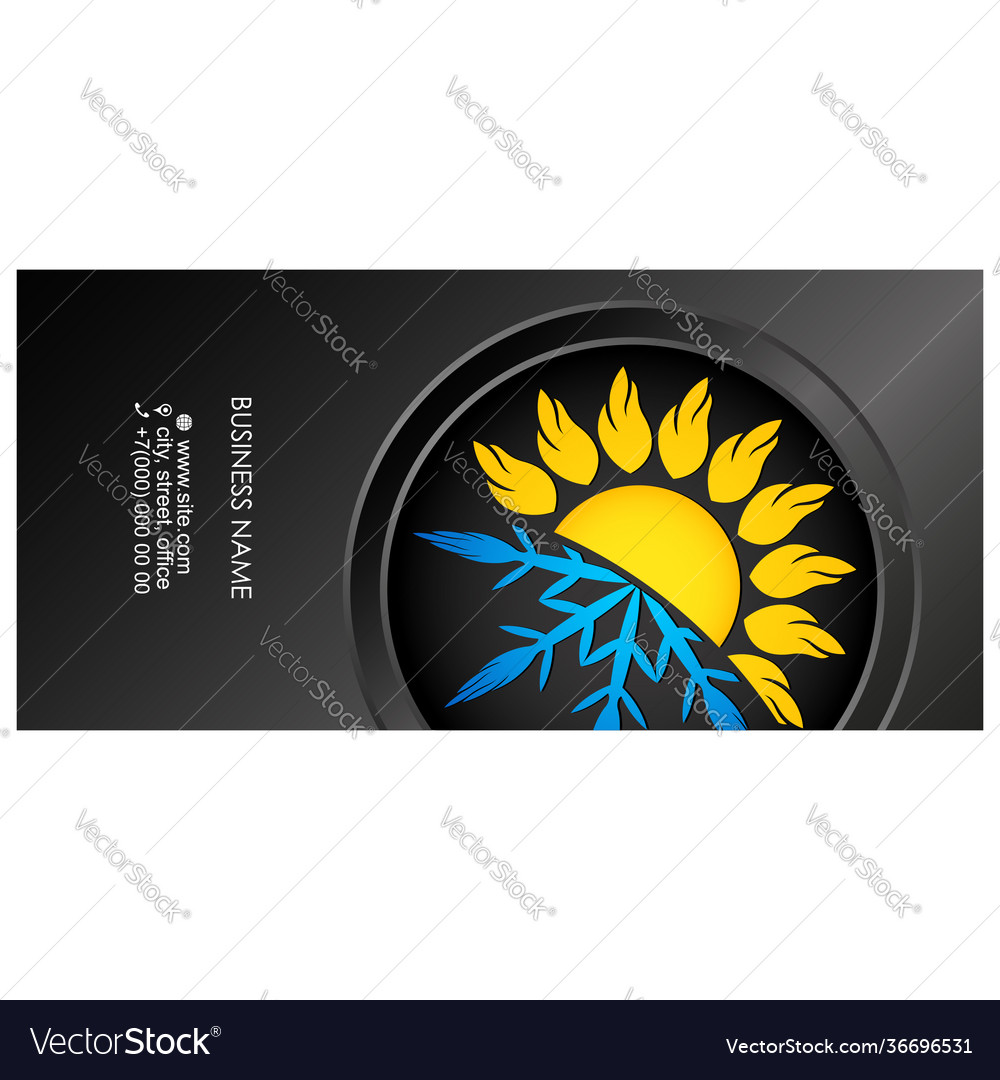 Business card air conditioning heat and cooling