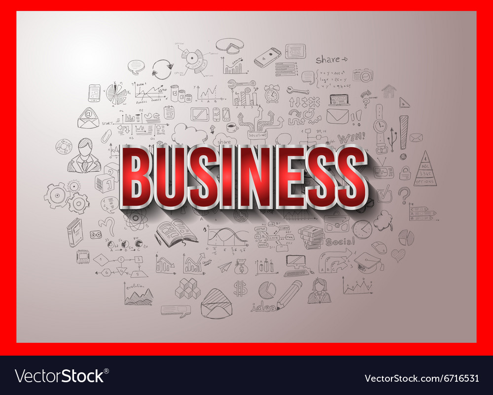 Business Success with Doodle design style
