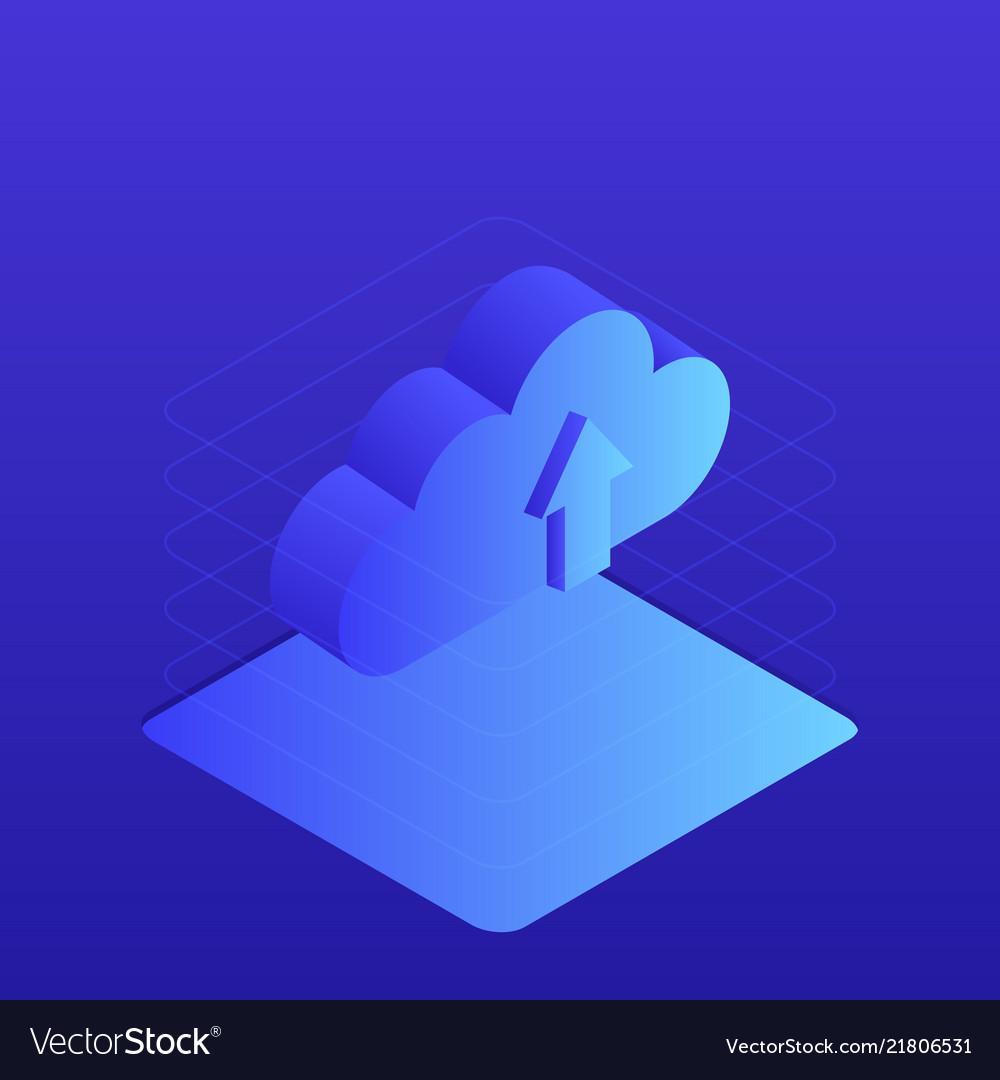 Cloud storage 3d isometric flat design