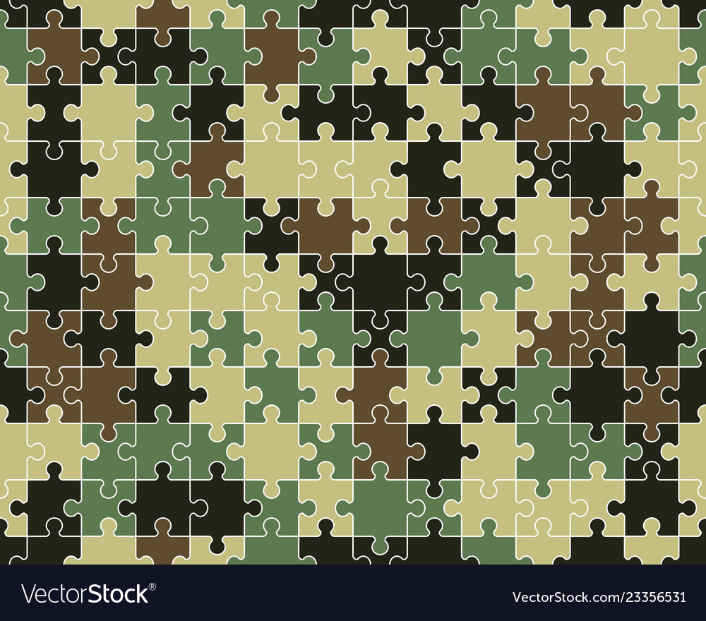 Colorful camouflage puzzle