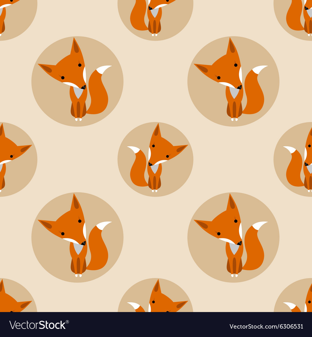 Graphically foxes in cartoon style