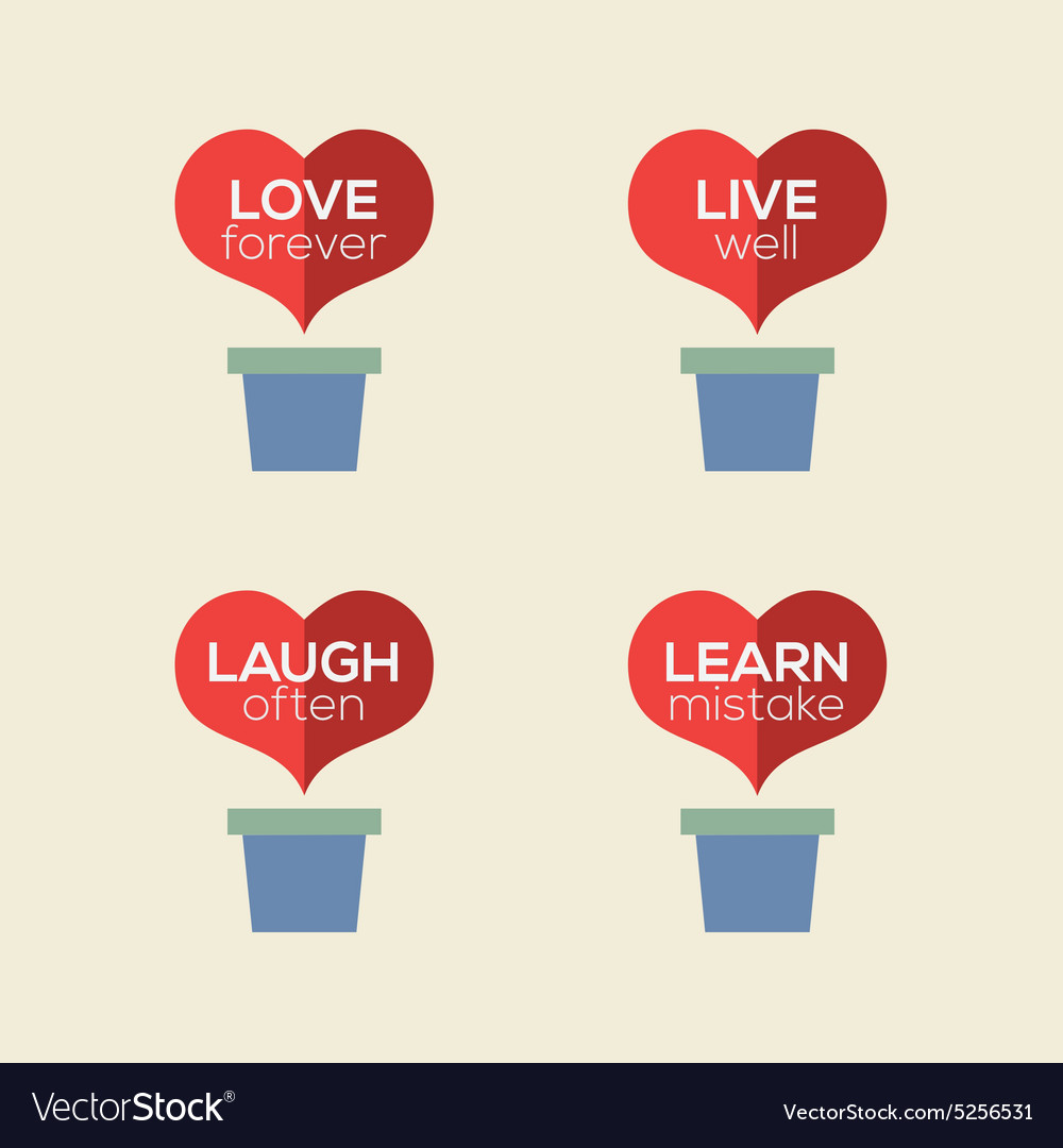 Love Live Laugh Learn Heart Plants