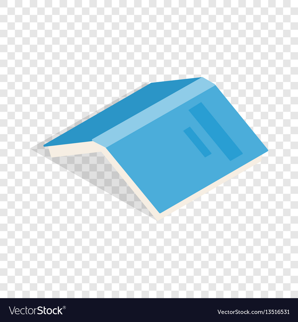 Open book with blue cover isometric icon