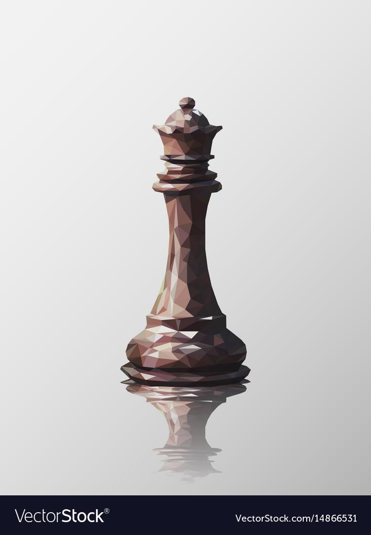 Queen low poly vector image
