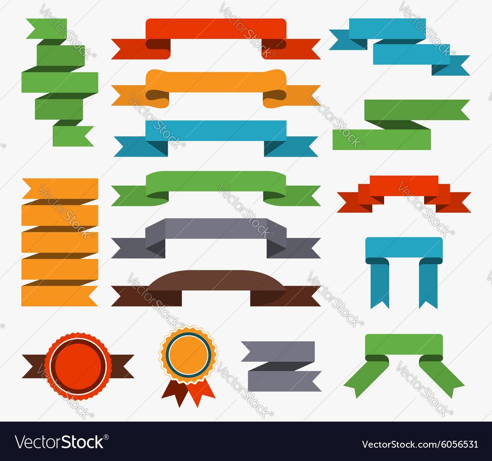 Set retro ribbons