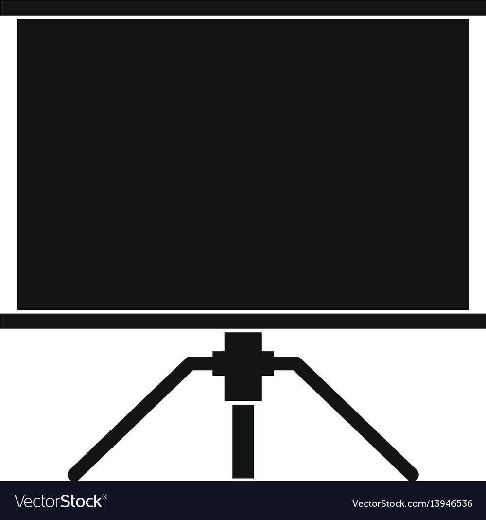 Blank projection screen icon simple style