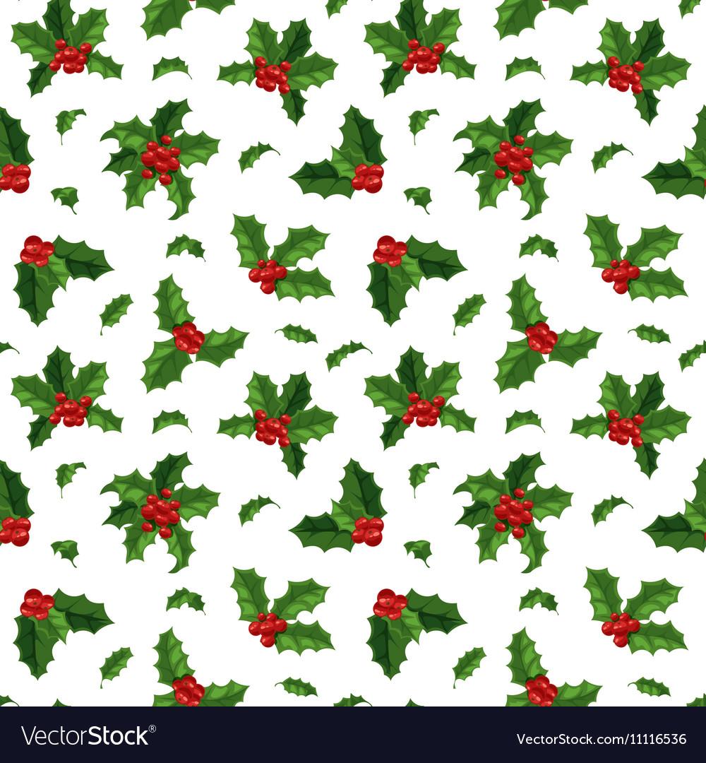 Christmas berry decoration seamless pattern