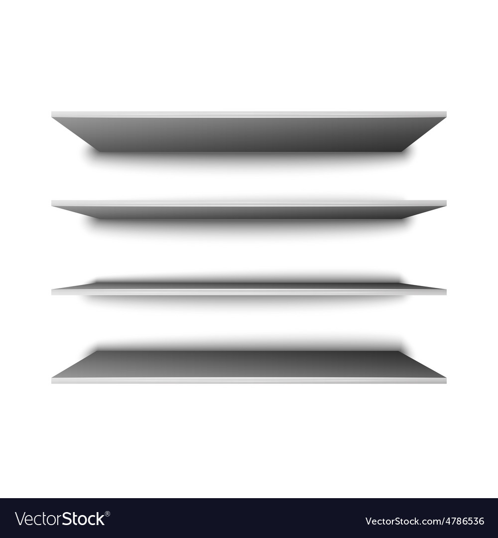 Empty shelves for presentation vector image