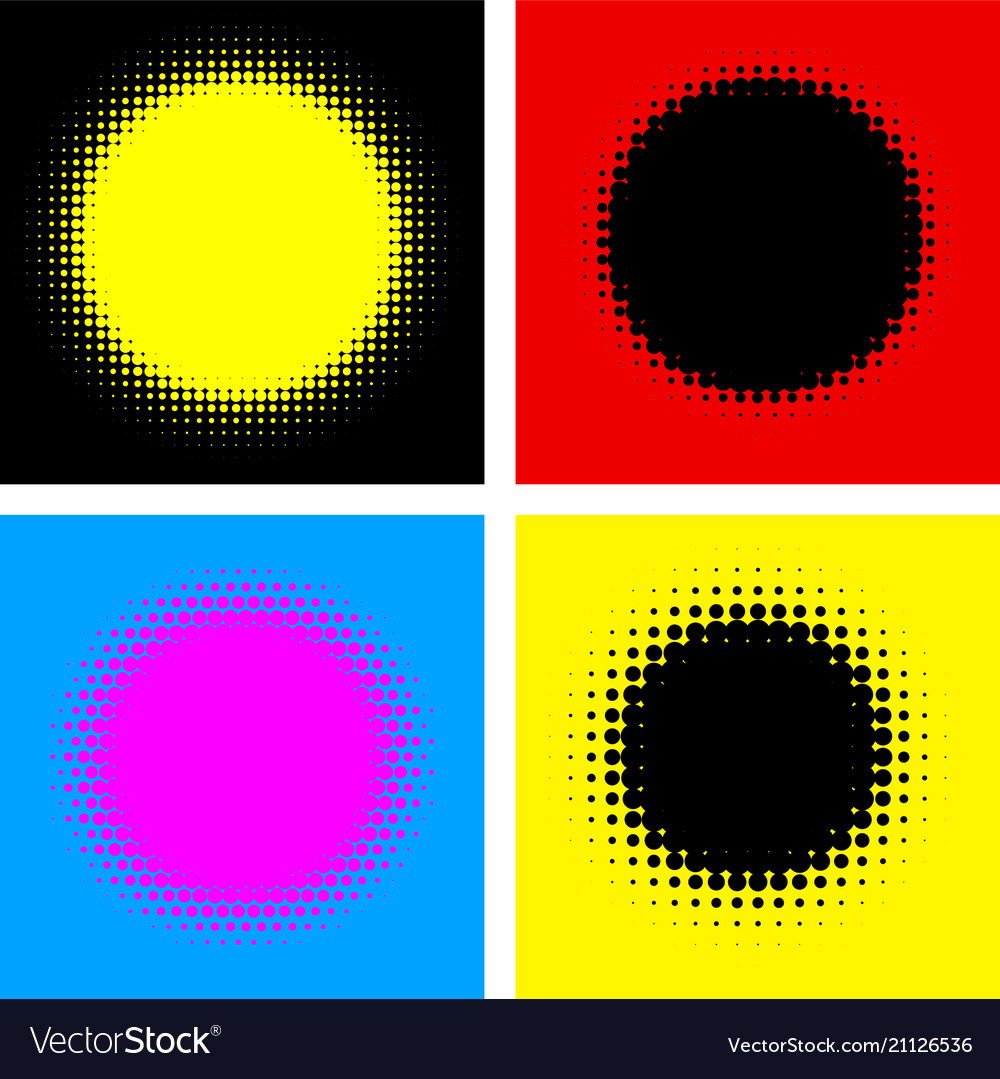 Four abstract colorful dotted backgrounds