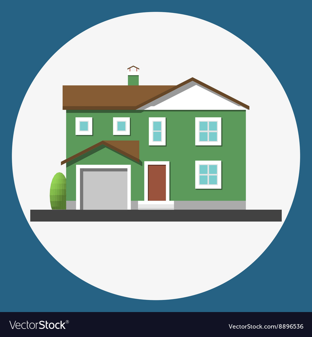Home building flat icon