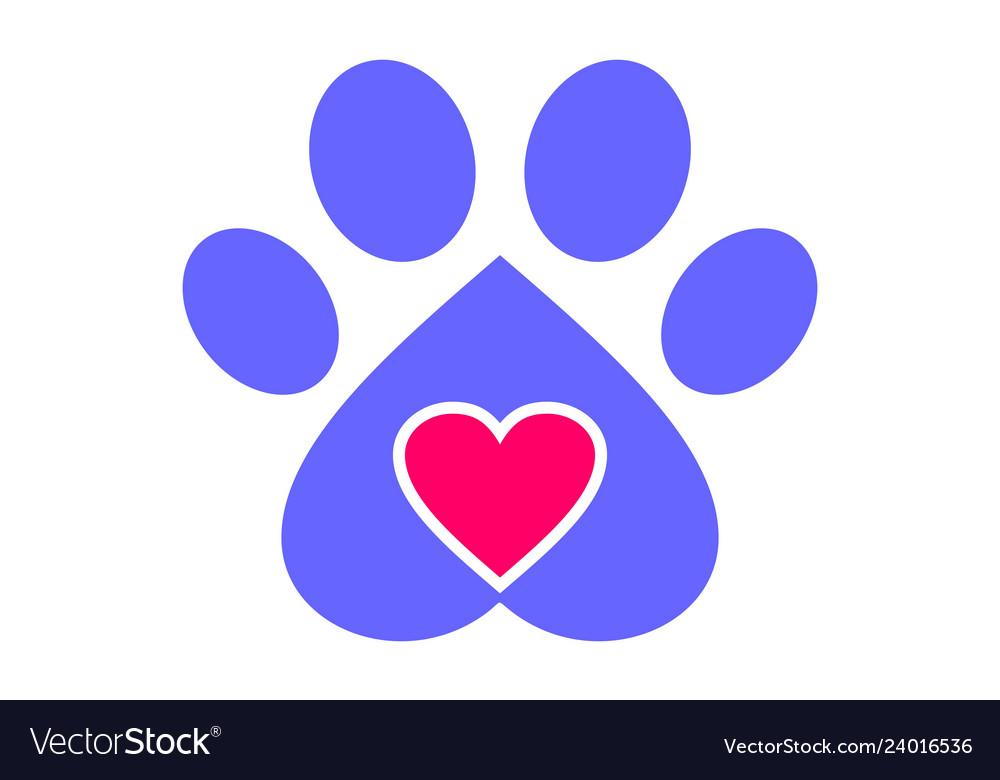 Love dog pets logo icon