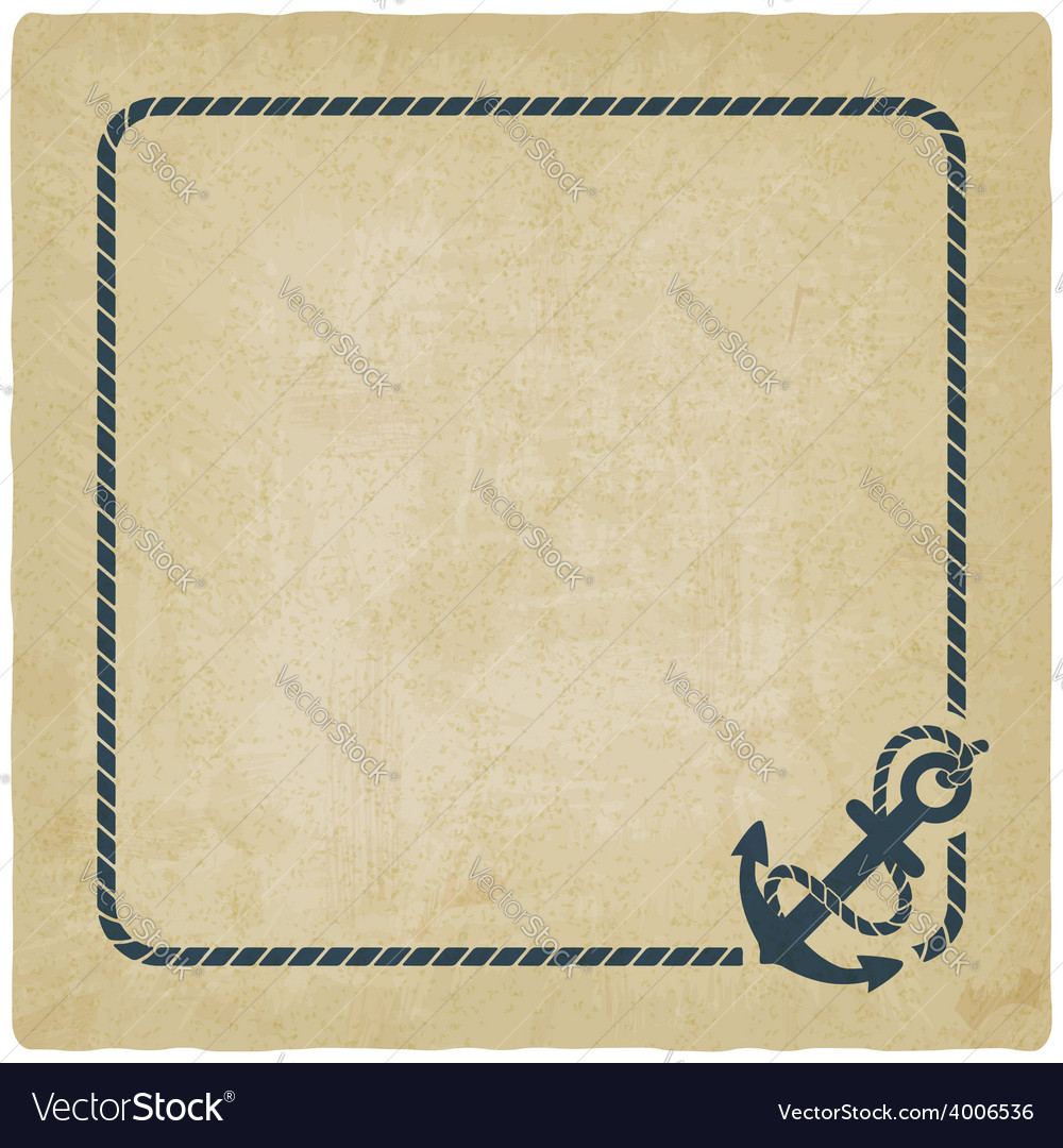 Marine background with anchor