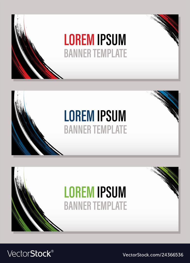 Modern abstract banner template website banner