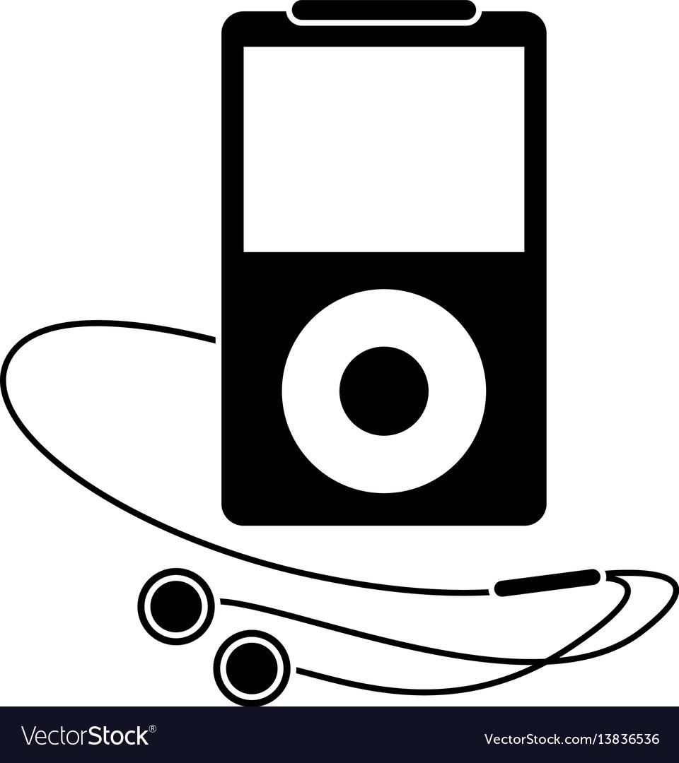 Mp3 player headphones pictogram