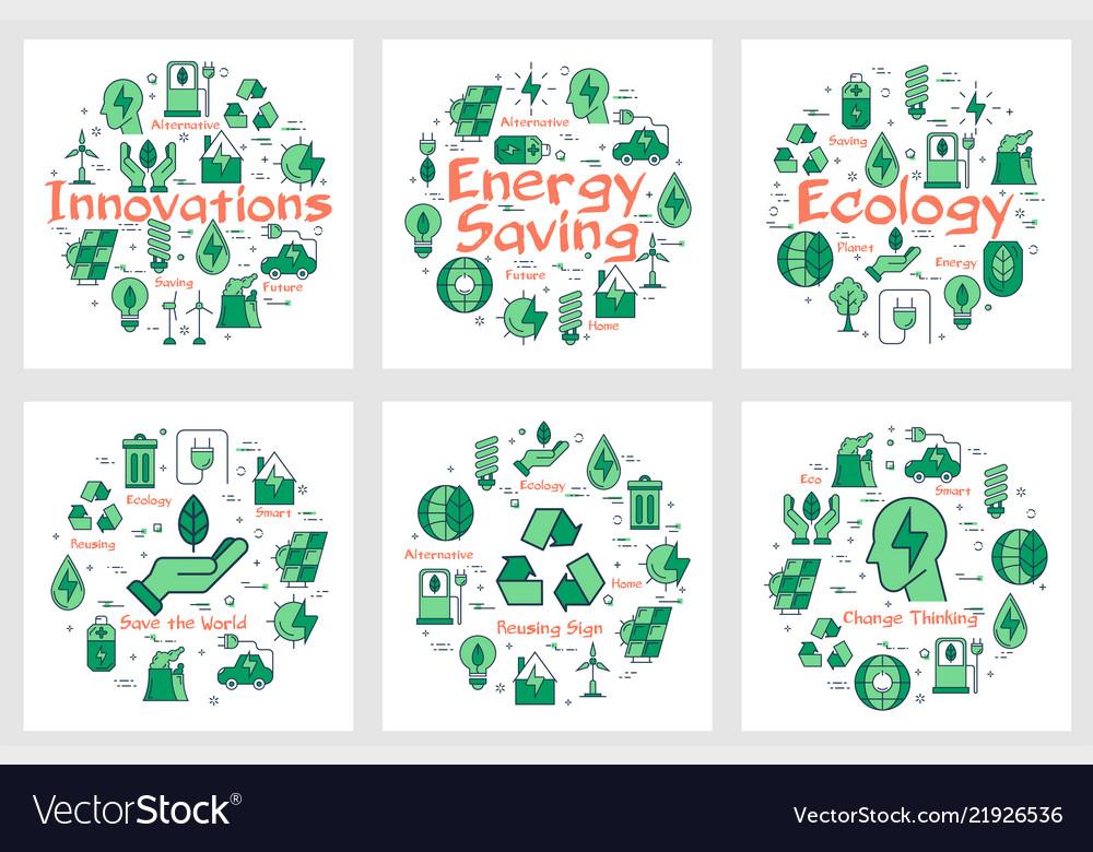 Six banners - innovations energy saving ecology