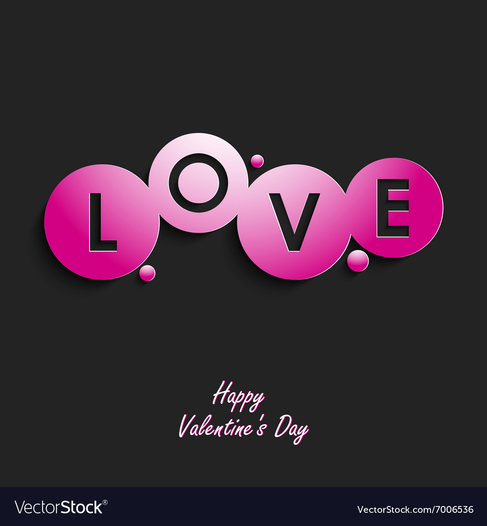 Valentine abstract card with inscription Love vector image