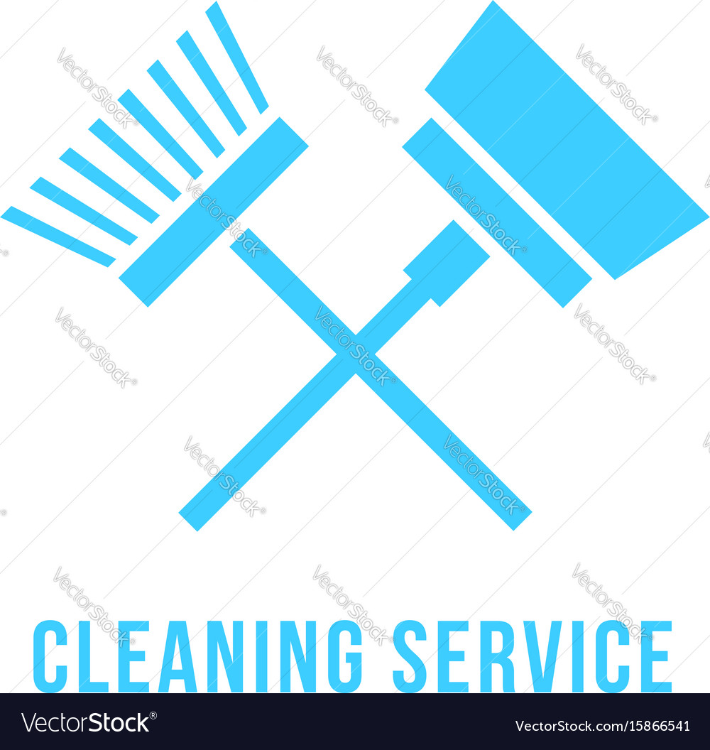 Cleaning service icon with vacuum cleaner and