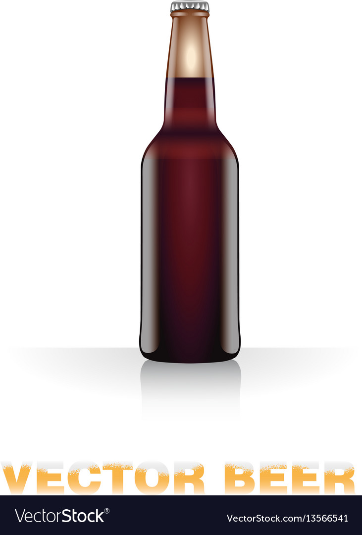 Dark beer bottle