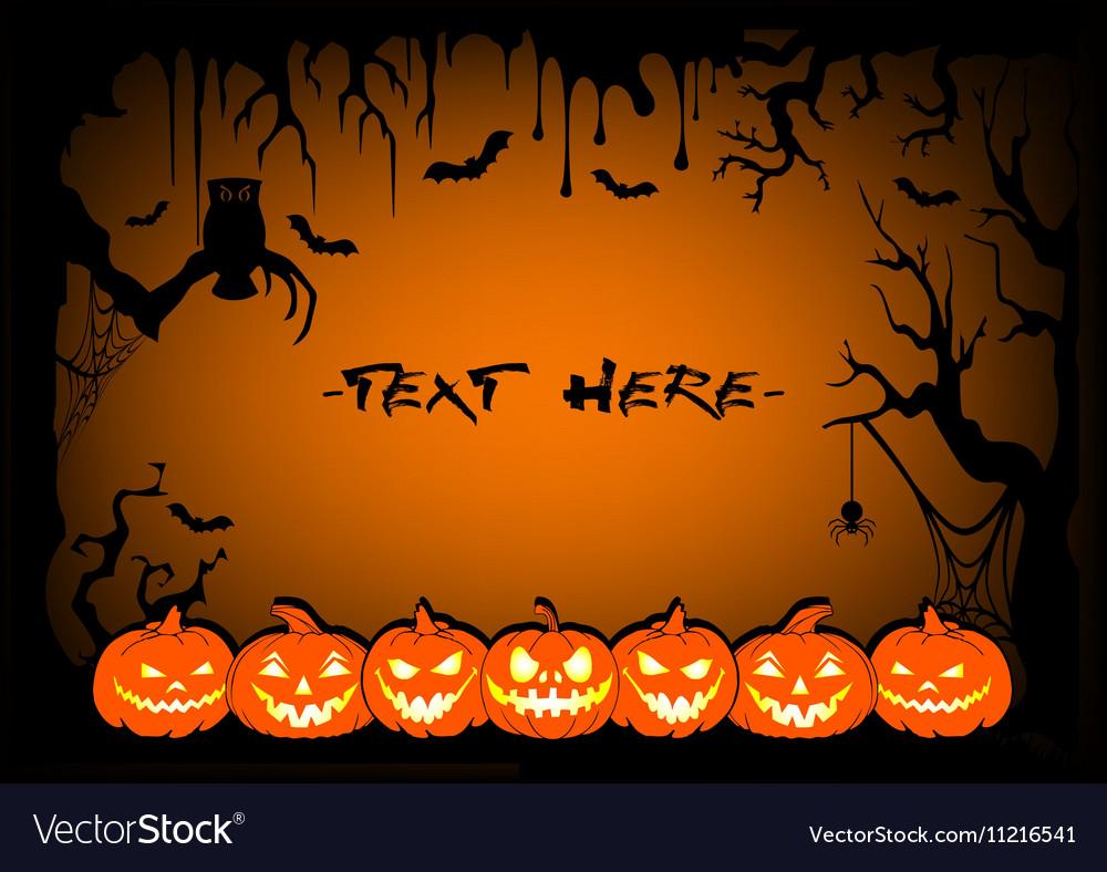 Frame halloween pumpkin
