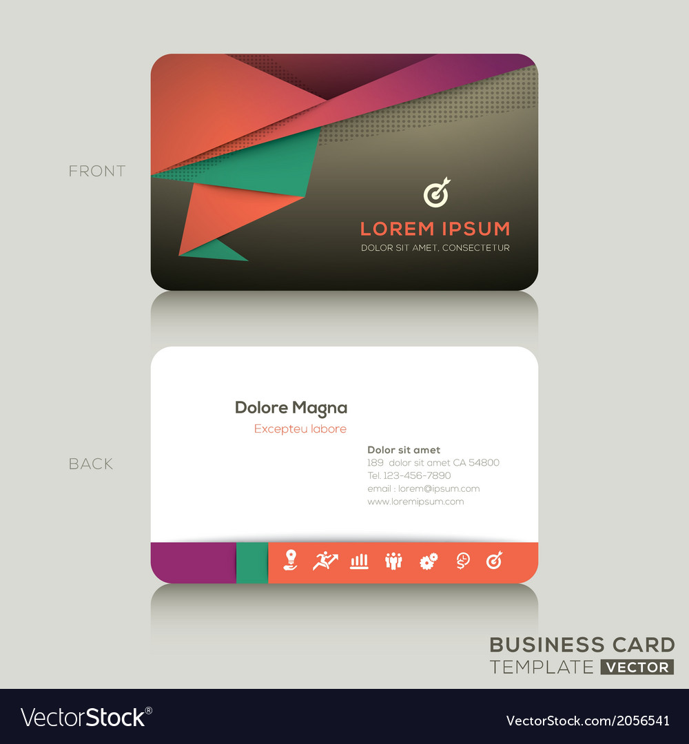 Modern business cards design template royalty free vector modern business cards design template vector image accmission