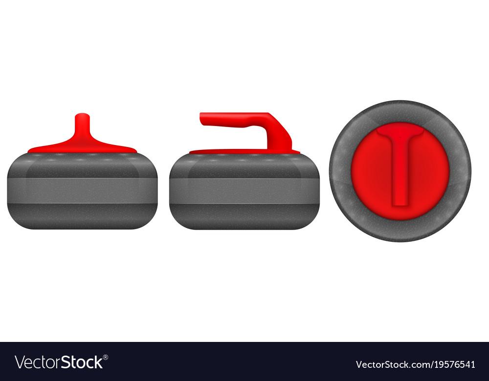 Set of curling stones vector image