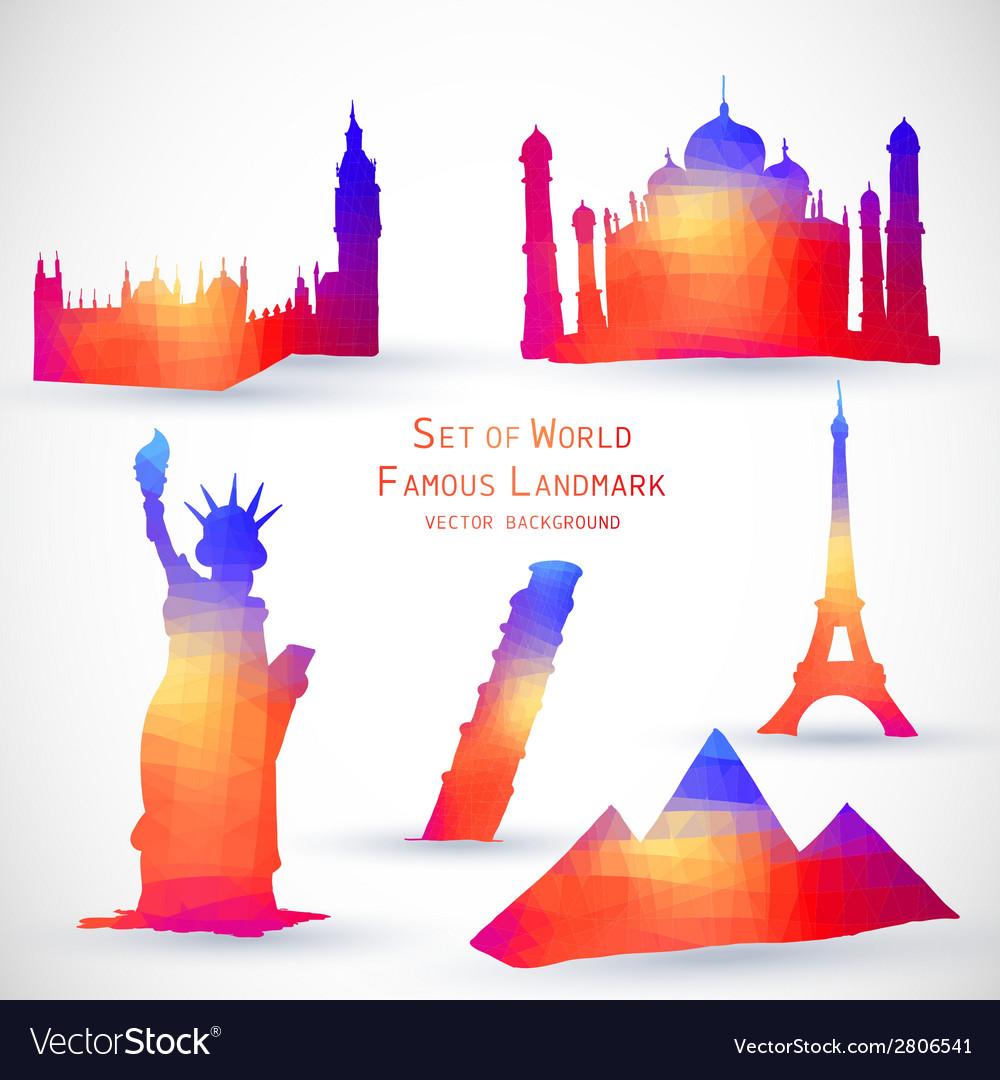 Set world famous landmark