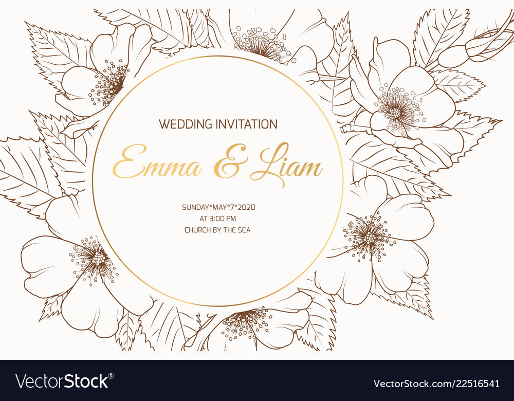 Wedding Event Invitation Card Template Round