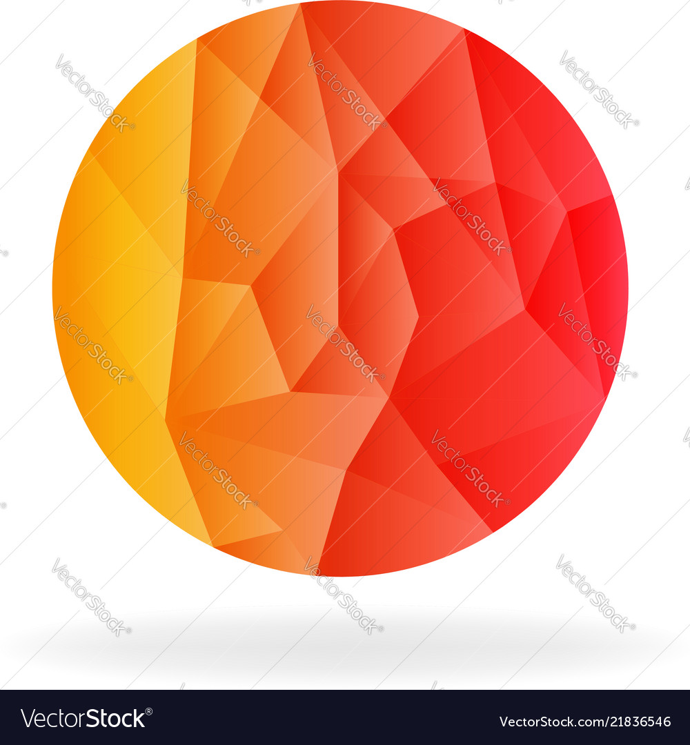 Abstract circular sphere low poly