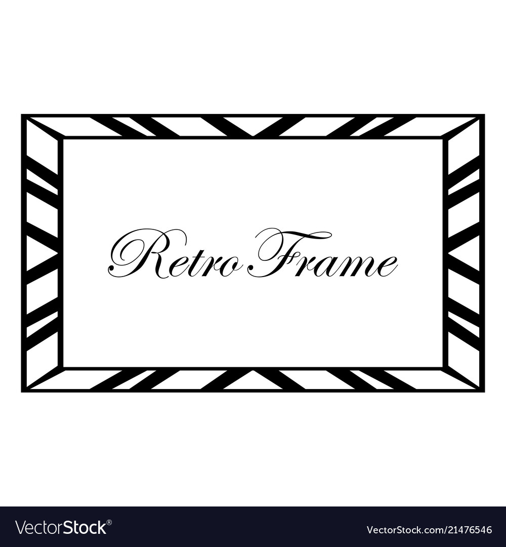 Art deco frame