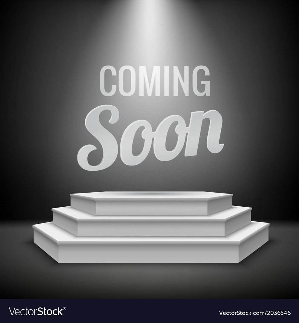 Coming Soon Concept Background Royalty Free Vector Image