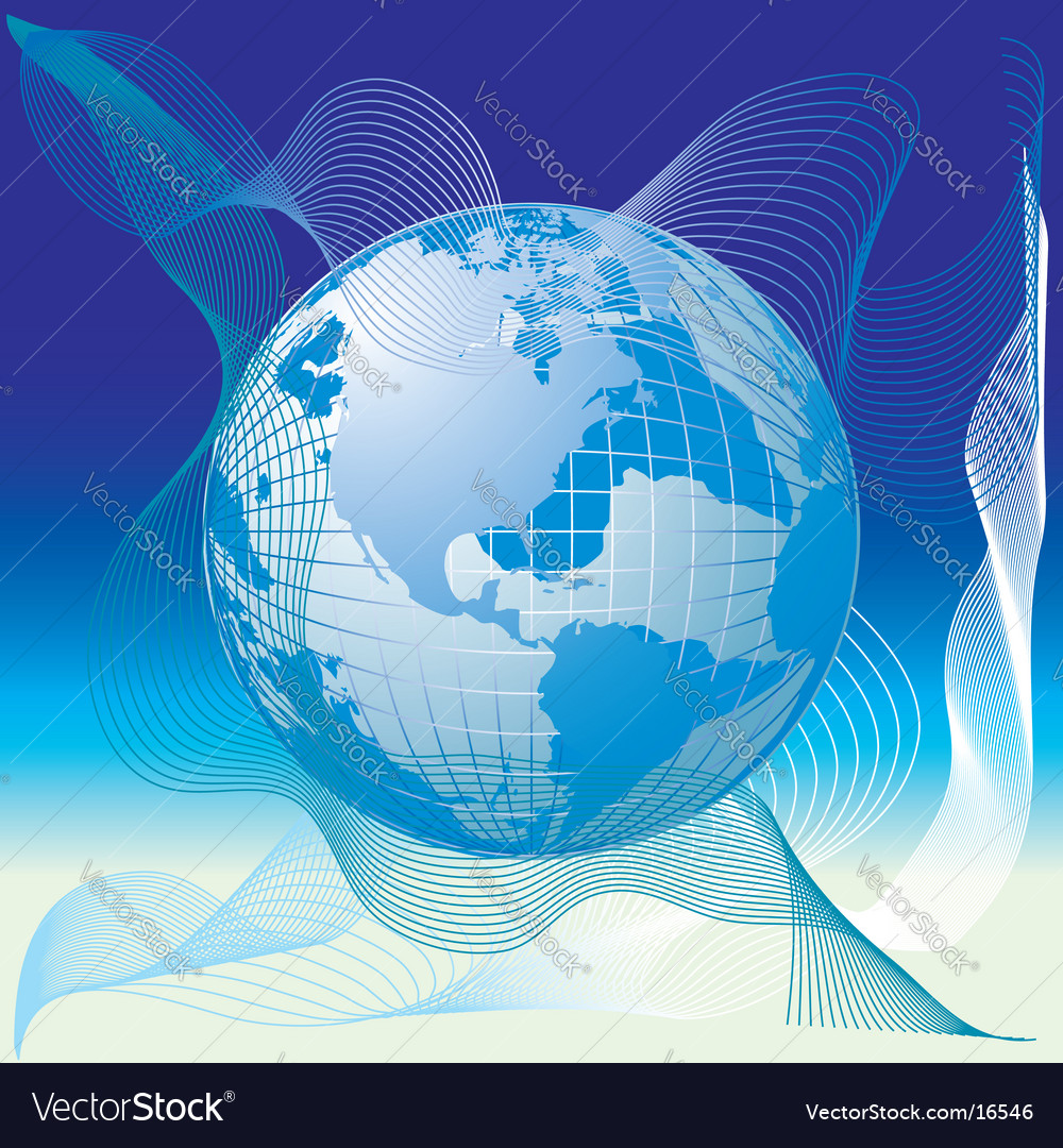 Globe world map abstract background royalty free vector globe world map abstract background vector image gumiabroncs Gallery