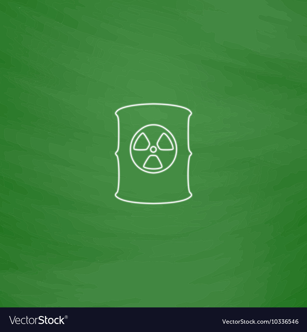 Radioactive Waste Computer Symbol Royalty Free Vector Image