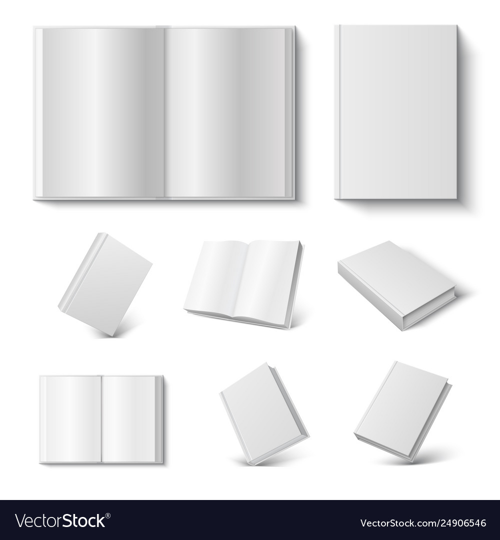 Realistic book 3d mock up open and closed diary