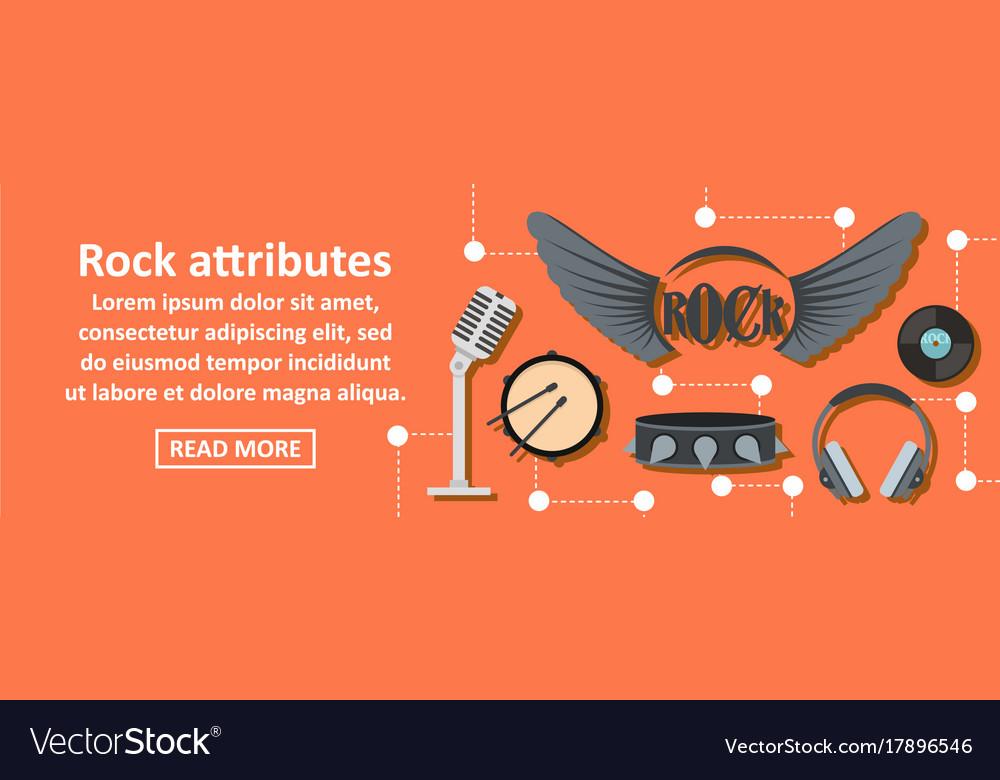 Rock attributes banner horizontal concept