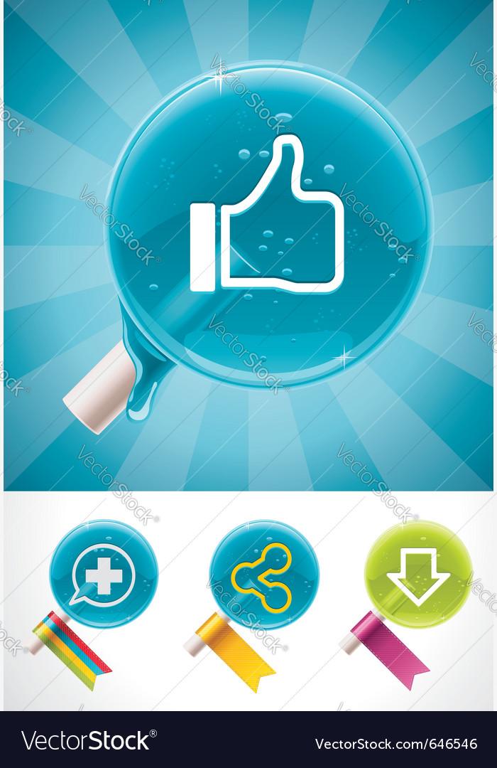 Social media lollipops vector image