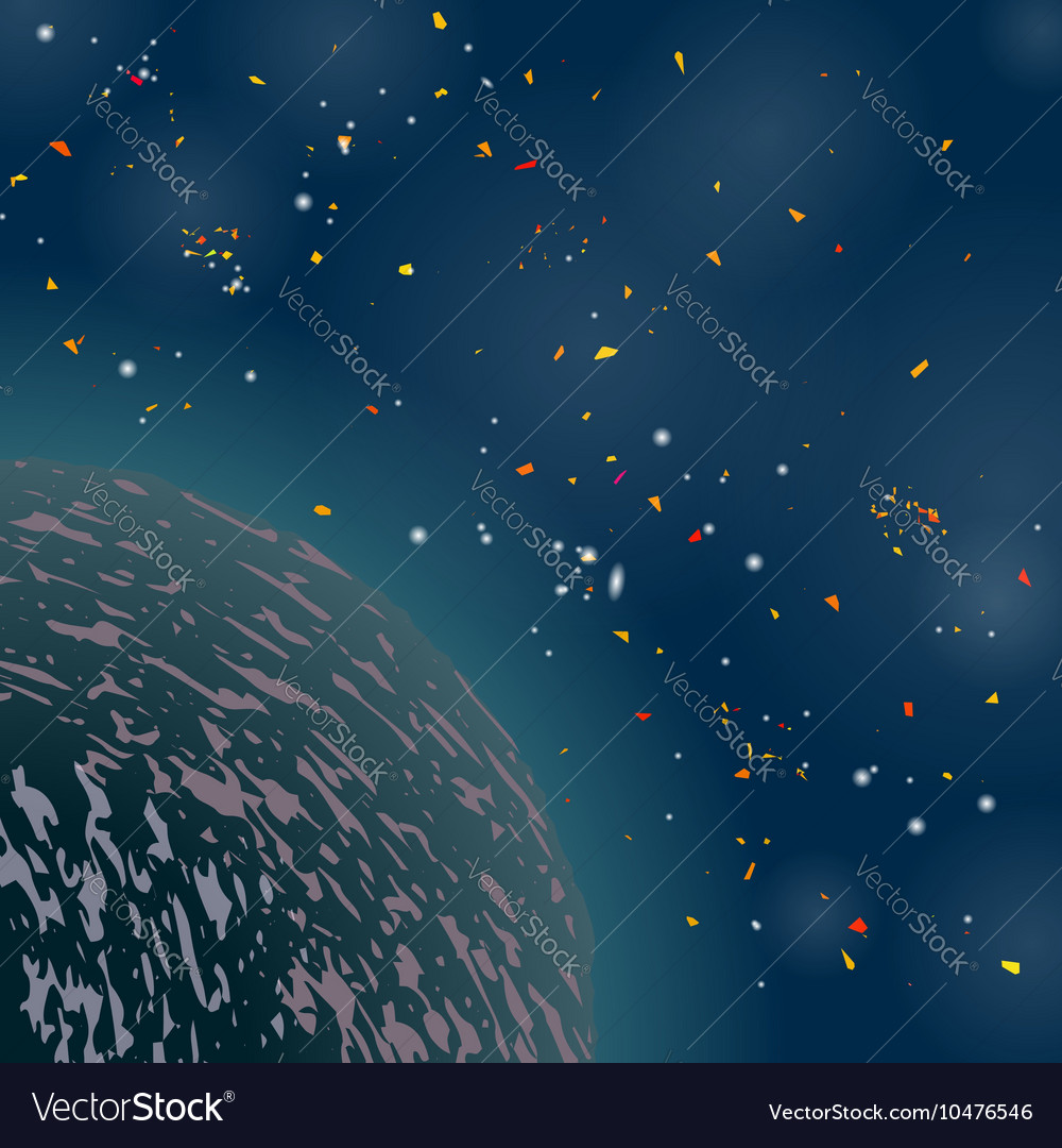 space background universe filled with stars vector image