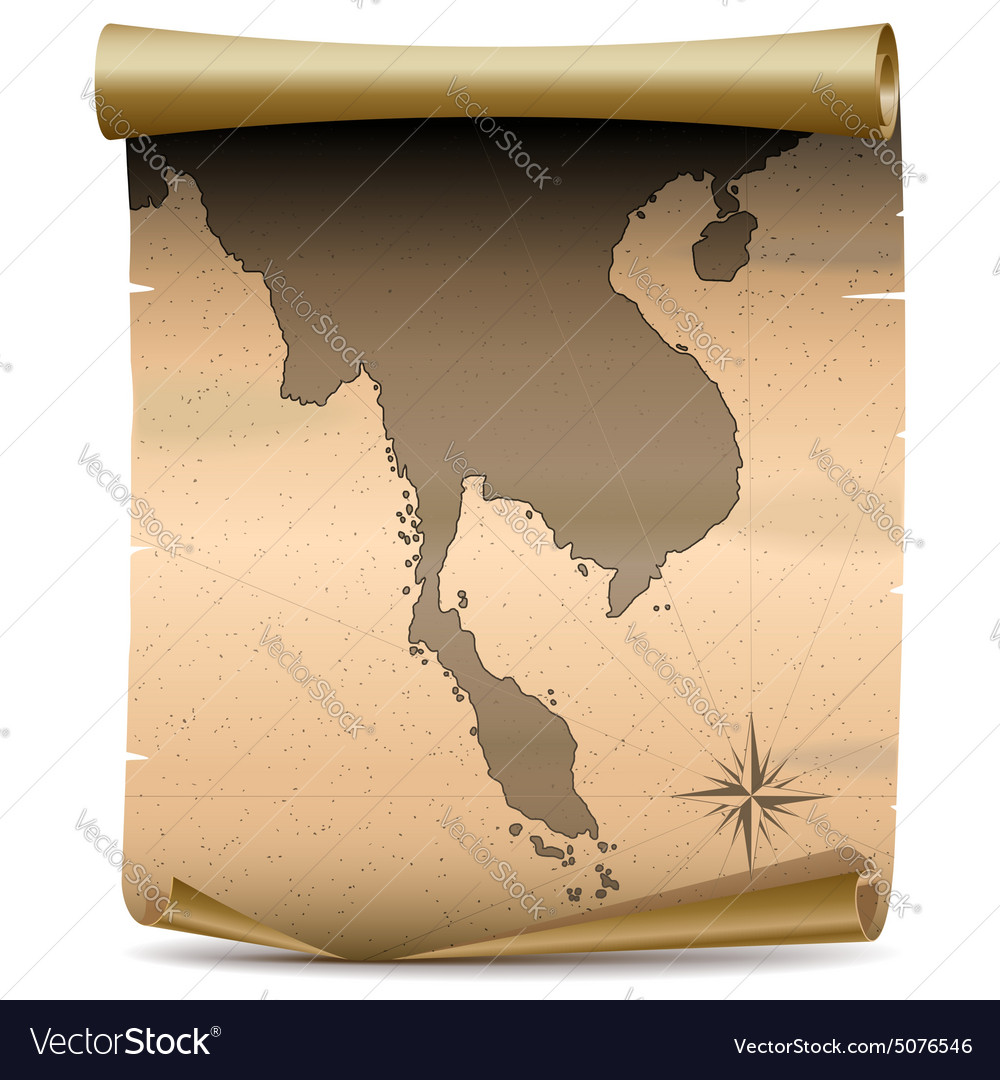 Thailand Vintage Map Royalty Free Vector Image