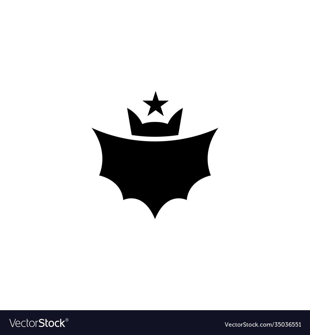 Bat with star logo design