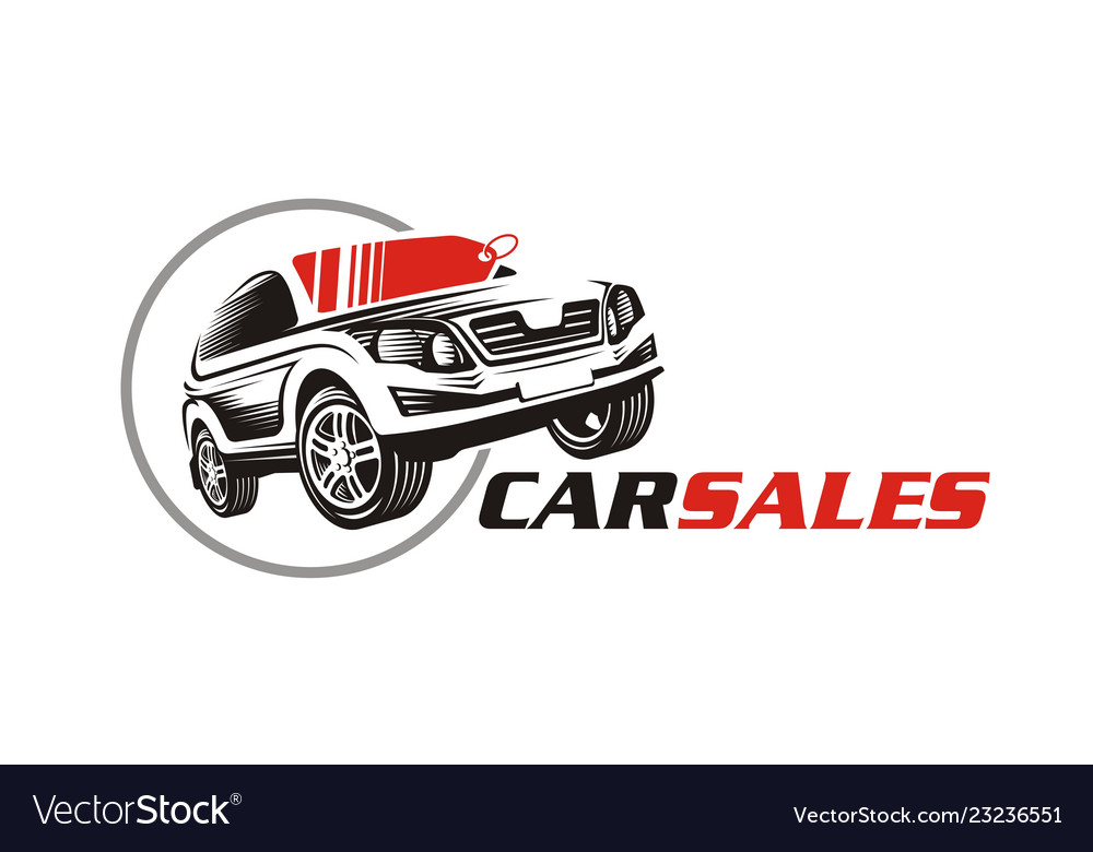 Car sale or service icon logo for automotive indu