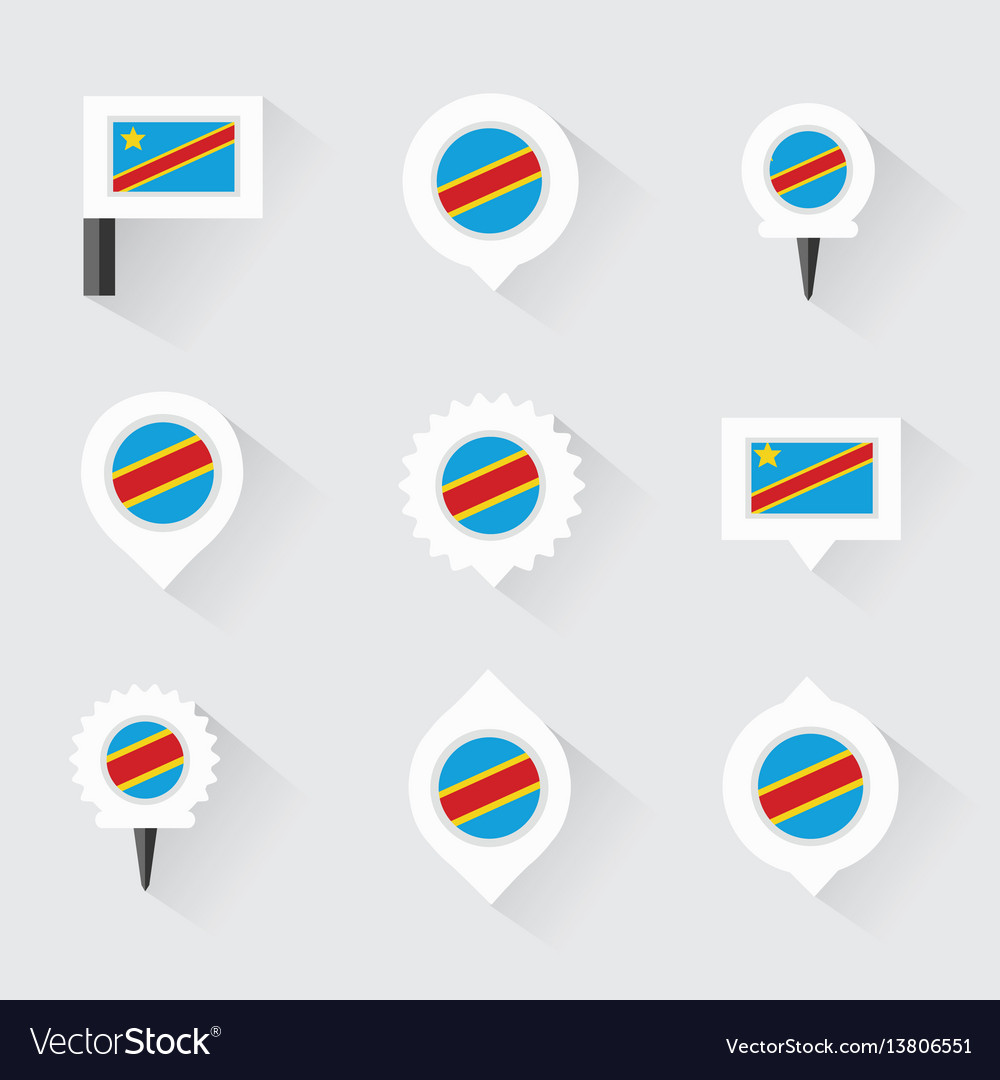 Democratic republic of the congo flag and pins