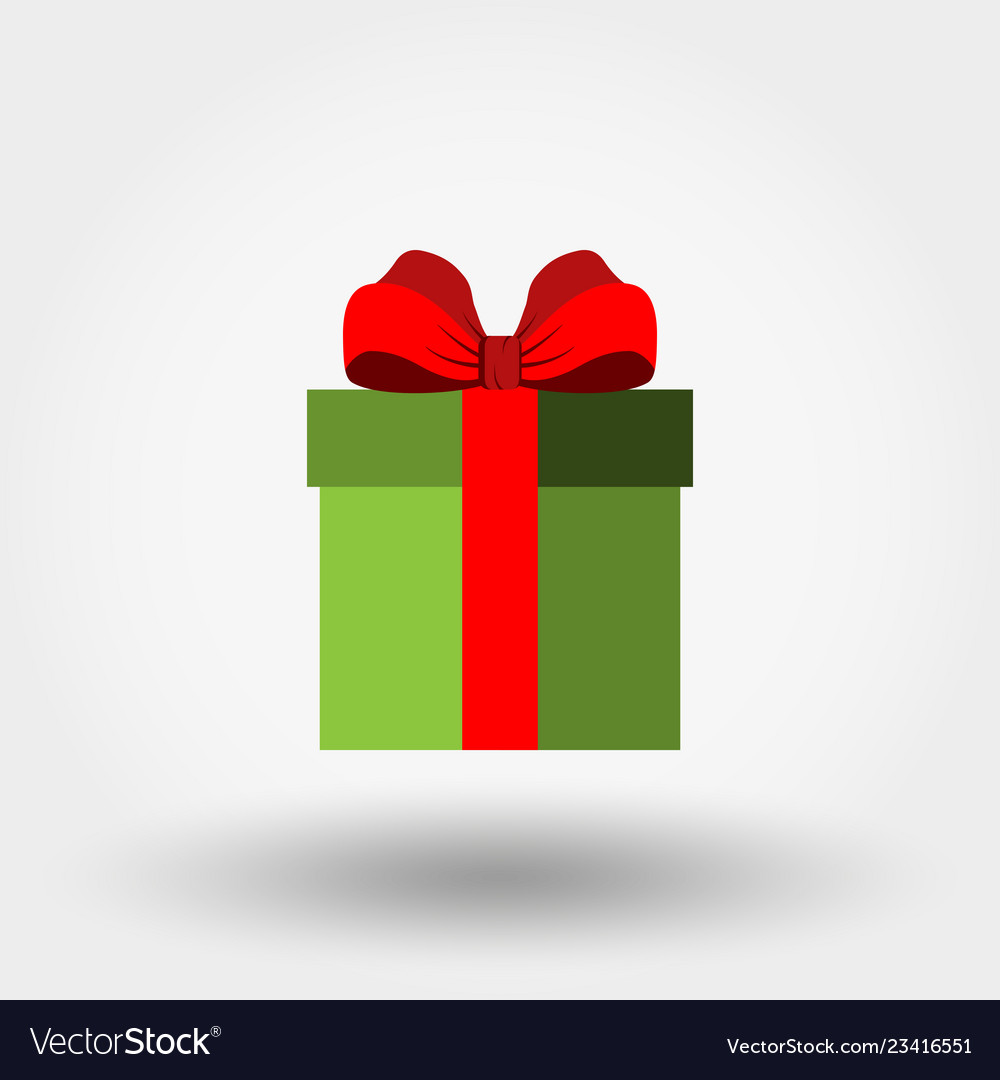 Gift box with red bow icon