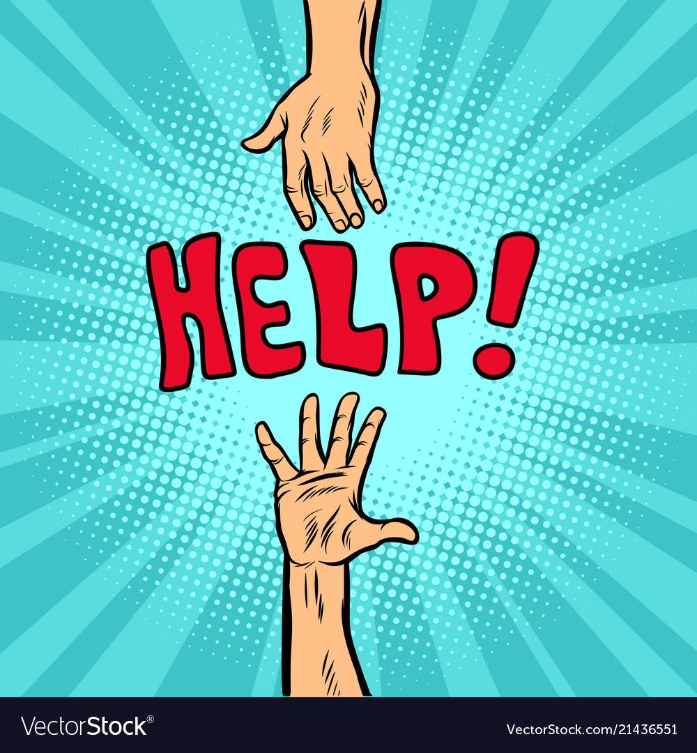 Helping hand help and volunteering