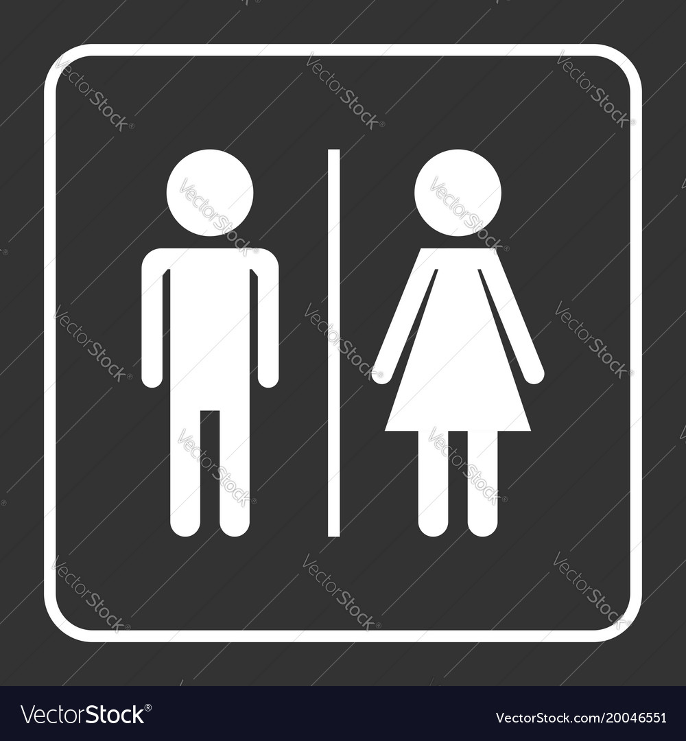Man and woman icon on black background modern