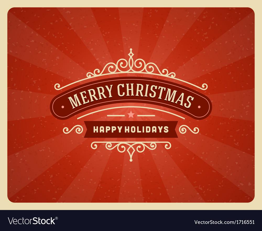 Merry Christmas postcard ornament