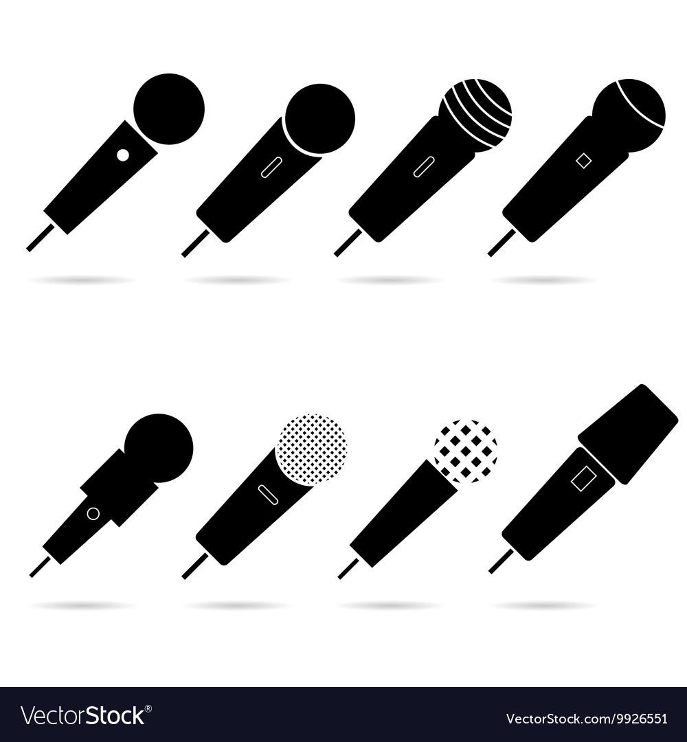 Microphone set in black color art