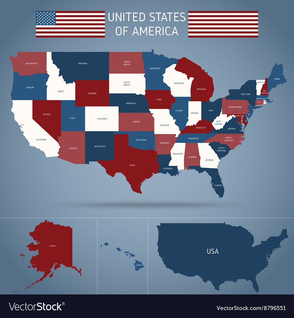 Political Map Of USA Poster vector image