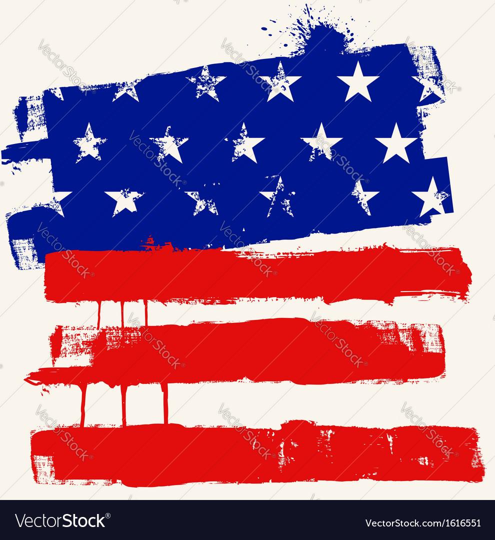 USA paint flag