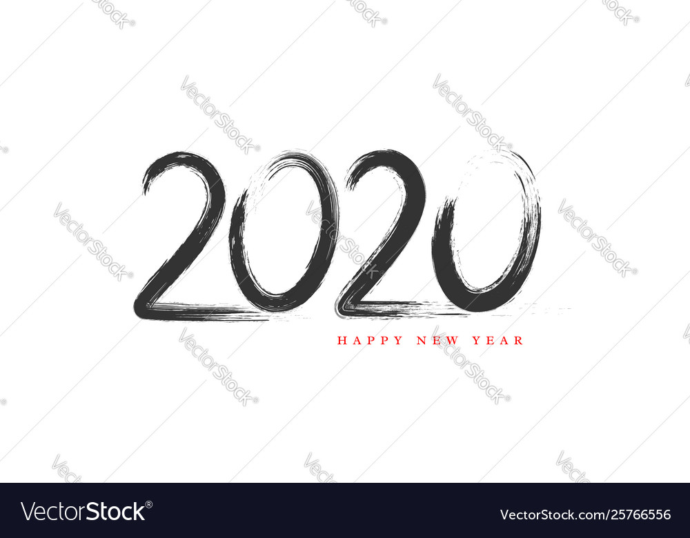 2020 new year hand drawn sign
