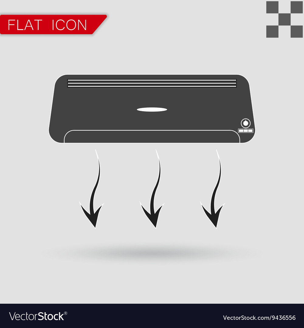Air conditioner Flat Style with red vector image