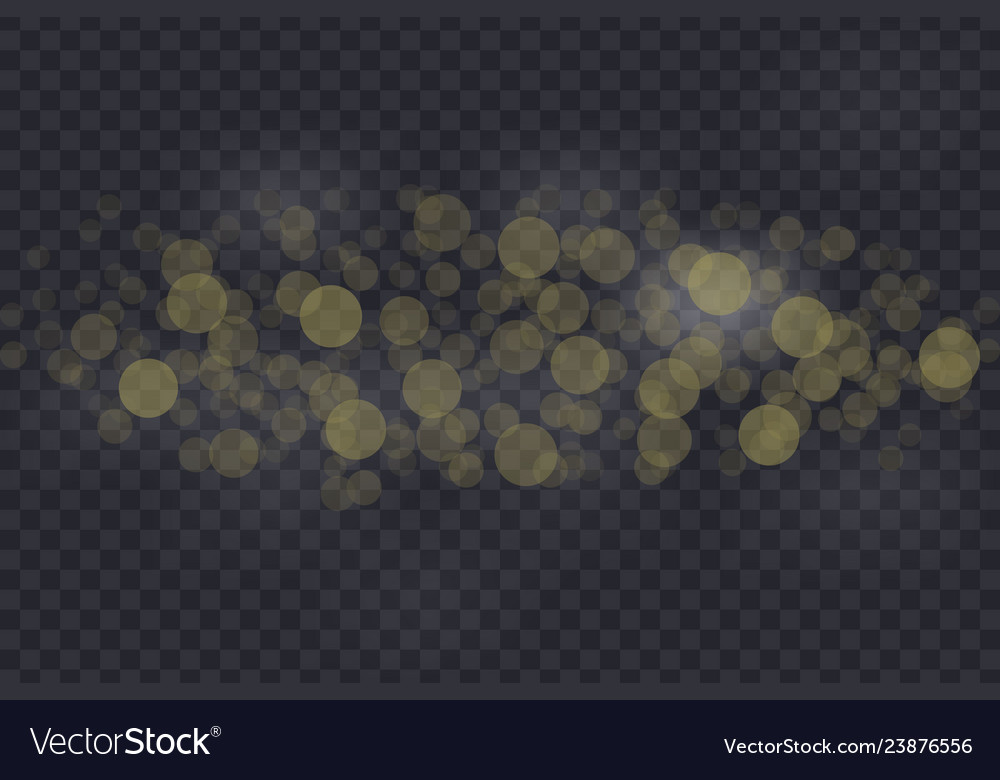 Bokeh lights effect isolated vector